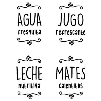 Vinilos Para Frascos Frases Para Frascos Etiquetas Para