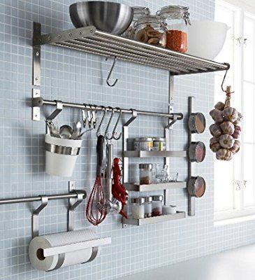 Ikea Stainless Steel Rail 002 135 39 15 75 Inch 1 15 75 Inch Astuce Rangement Cuisine Rangement Cuisine Astuce Rangement