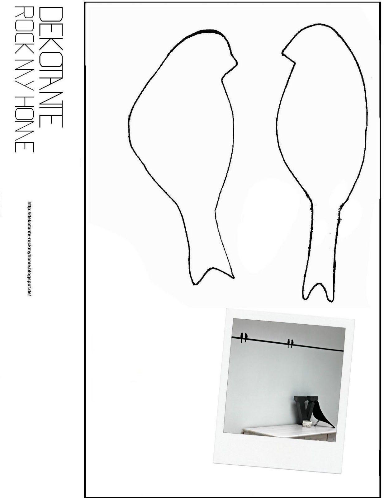 dekotante rockmyhome vorlage v gel fr hling v gel pinterest bird silhouettes and free. Black Bedroom Furniture Sets. Home Design Ideas