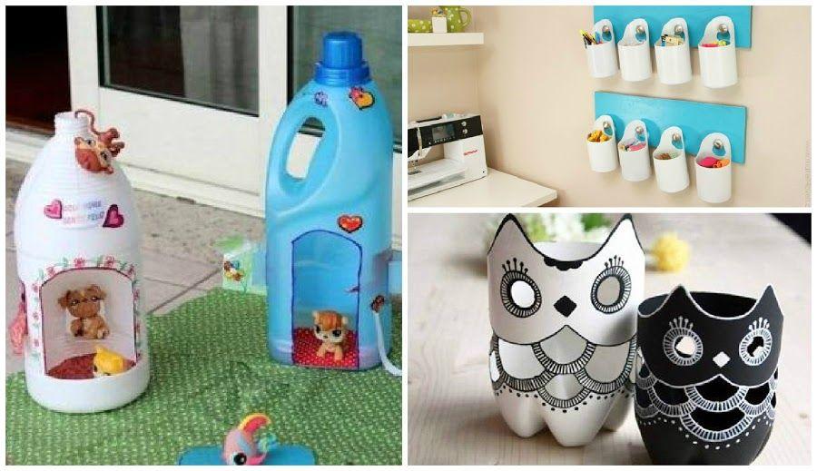 Ideas fabulosas para reciclar botellas reciclar botellas for Manualidades decoracion hogar
