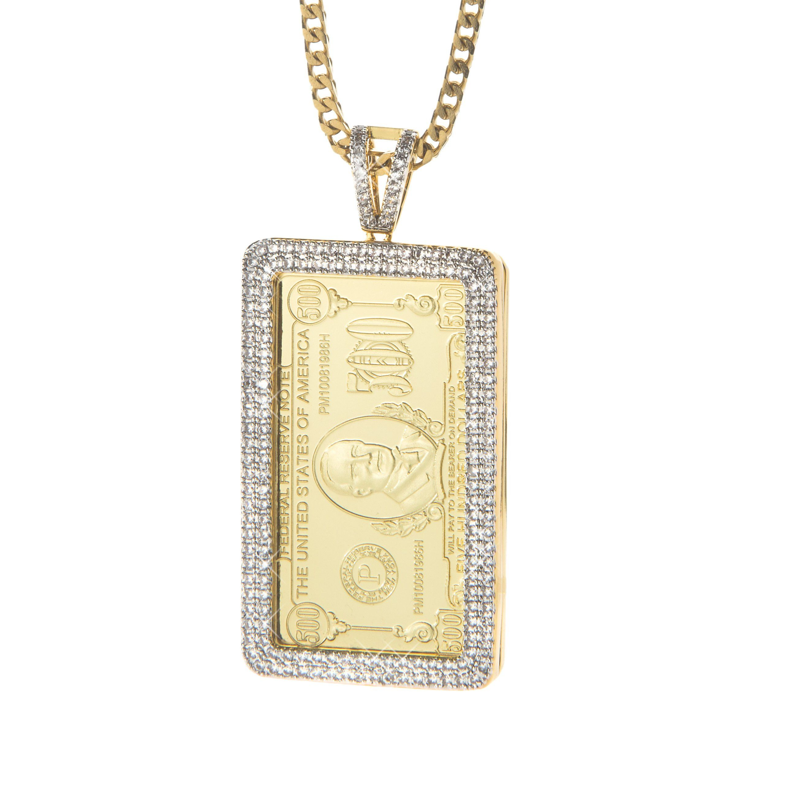 bar urban pendant gold sparkle necklace