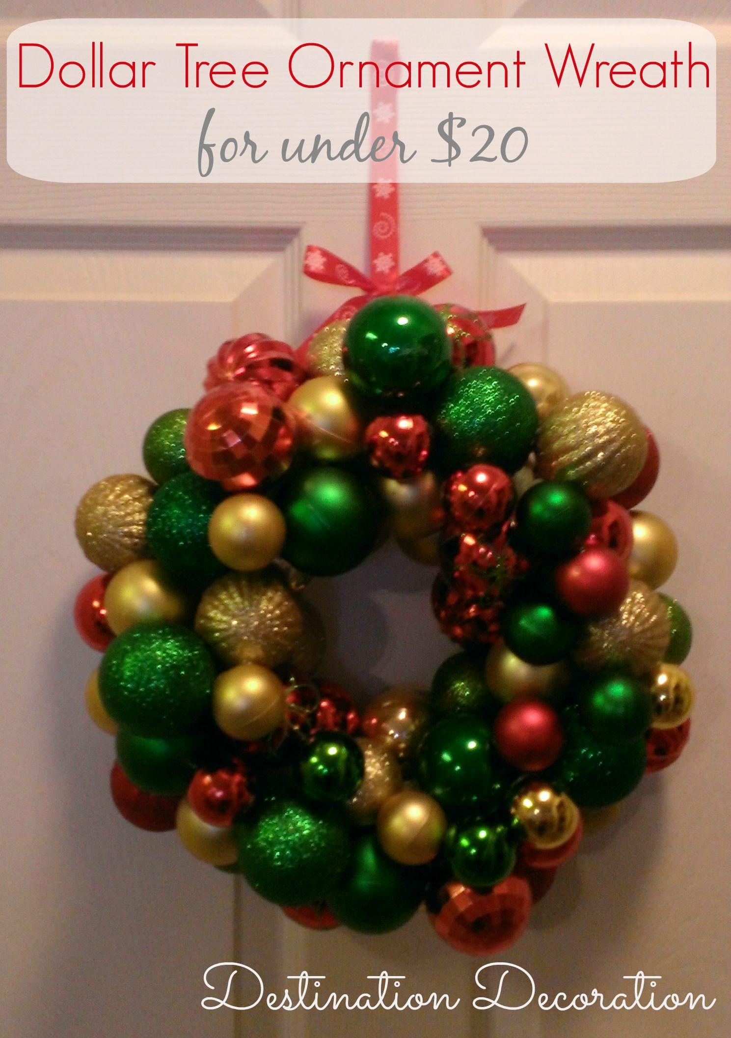 DIY Dollar Tree Ornament Wreath Ornament wreath, Wreaths