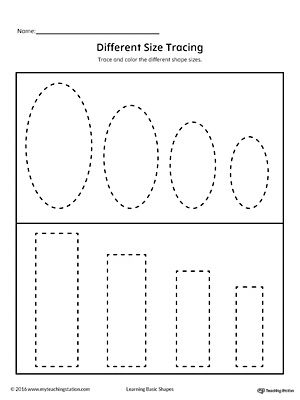 Tracing Different Size Shapes Oval Rectangle With Images