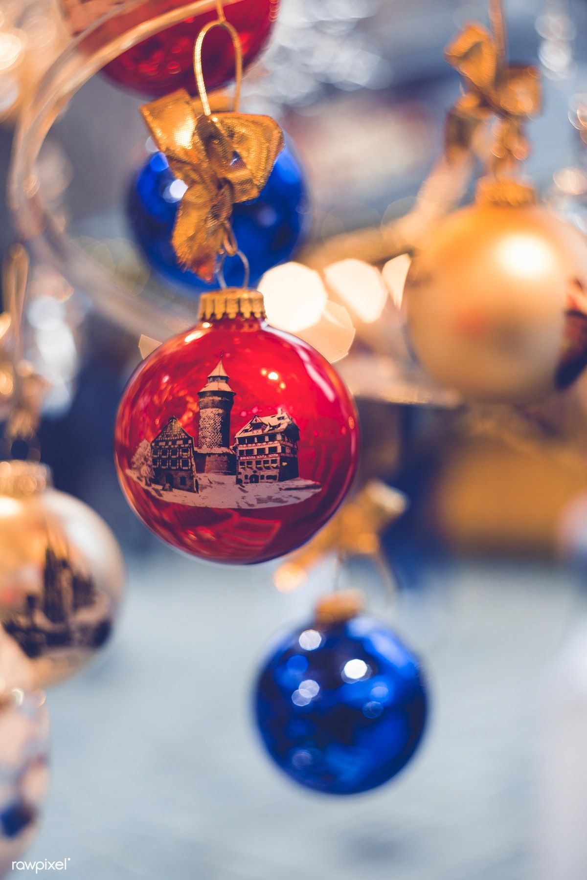 Close Up Of Christmas Decorations - Free Image By Rawpixelcom