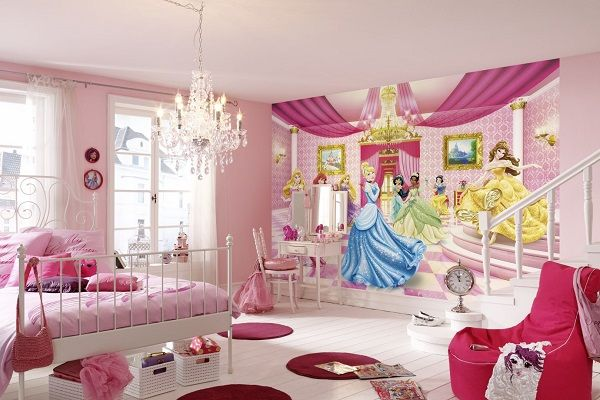 Wall mural photo wallpapers in giant size for girl's room