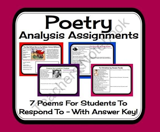 Poetry Analysis Response Sheets For  Poems Printable Activities  Poetry Analysis Response Sheets For  Poems Printable Activities  Answer  Key From Presto Plans On Teachersnotebookcom  Pages  This Middle And  High  English Literature Essay Questions also Custom Persuasive Speeches  English Sample Essays