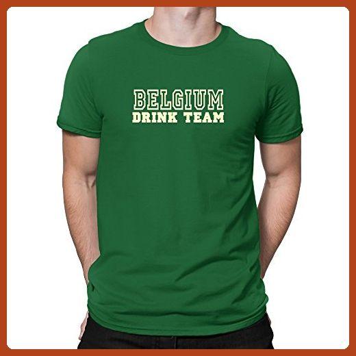 Teeburon Belgium Drink Team sporty T-Shirt - Food and drink shirts (*Partner-Link)