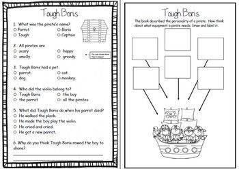 Tough Boris by Mem Fox ~ A week of reading activities