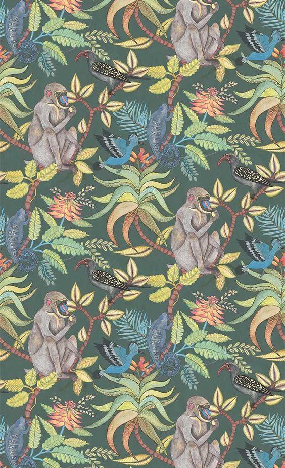 papier peint savuti cole and son 1 papier peint moderne papier peint et papier peint jungle