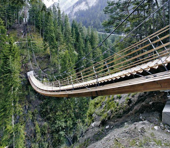 Bridge-Stair, Switzerland - http://detail-online.com/inspiration/bridge-over-the-traversinertobel-103177.html
