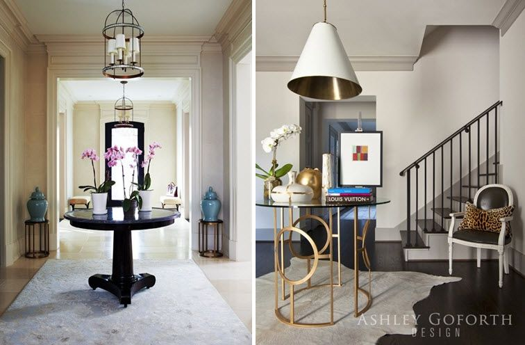One Of My Most Favorite Foyer Looks Is The Classic Round Entry Table.