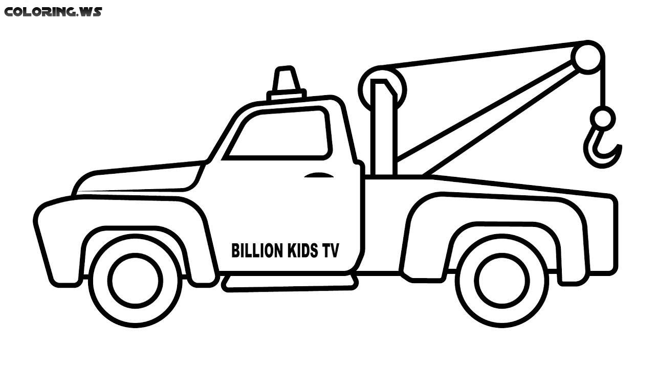 Tow Truck Coloring Pages For Kids Truck Coloring Pages Motor