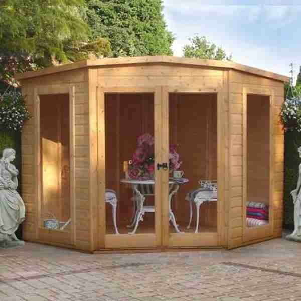 7x7 shire barclay corner summerhouse buy sheds direct - Corner Garden Sheds 7x7