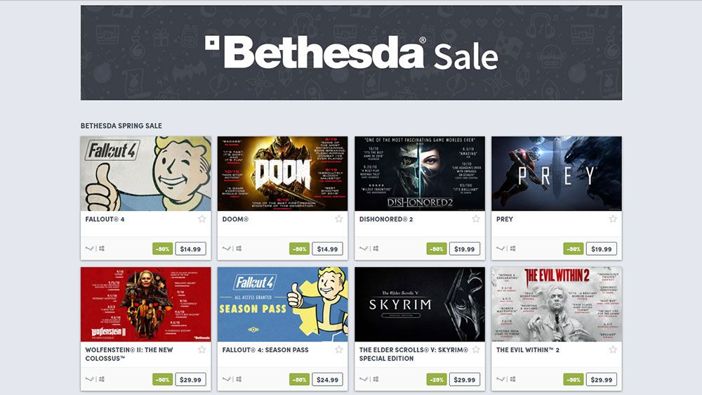 Bethesda Spring Sale 2018 is Loaded with Cheap AAA Titles - Game Deals  365Game Deals 365