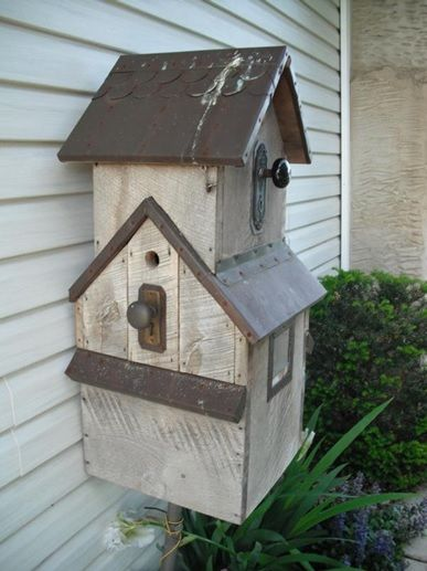 Add A Bird House To Cover Gas Meter With Door That Opens So Meter Reader Can Read The Meter
