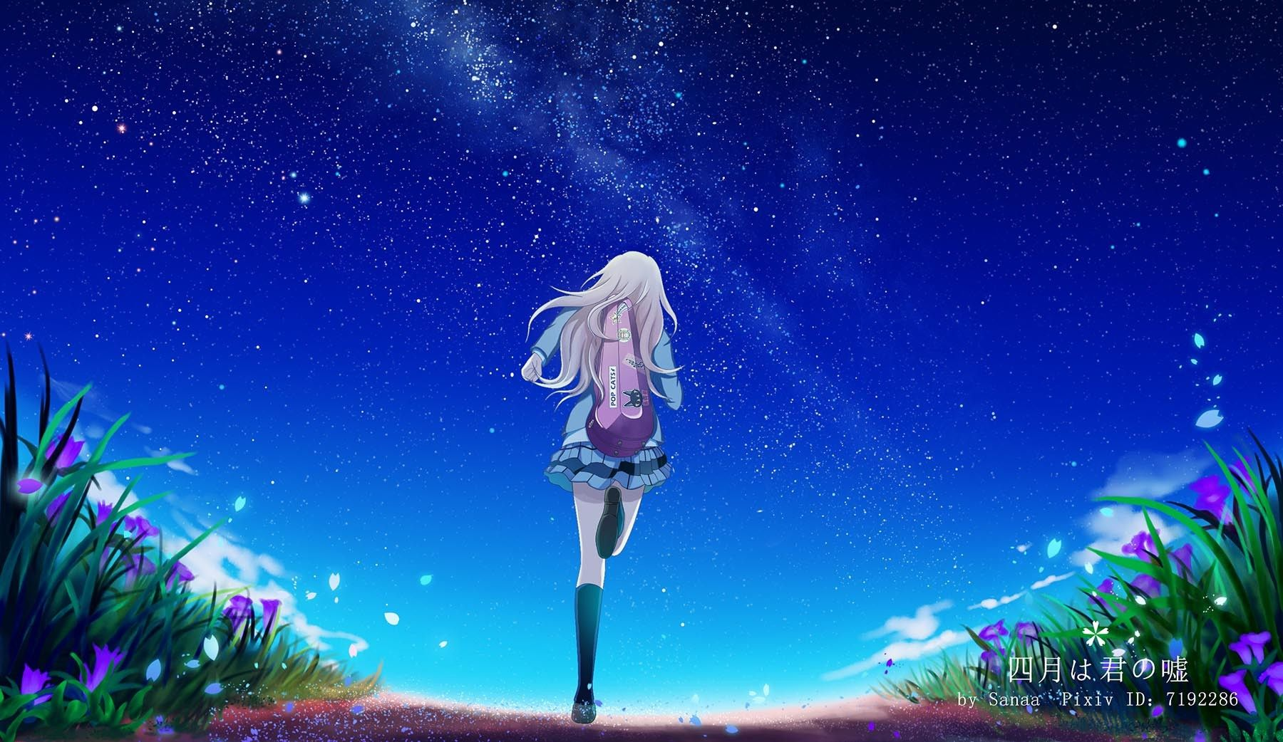 Pin By Sam On Wallpapers Your Lie In April You Lied Anime Galaxy Download wallpaper anime shigatsu wa