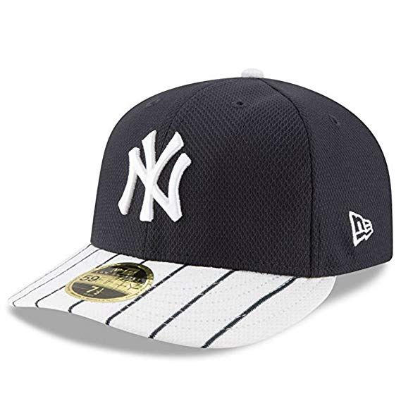17573cddc31 New York Yankees New Era Low Profile Diamond Era Fitted Size 7 5 8 Hat Cap  - Team Colors