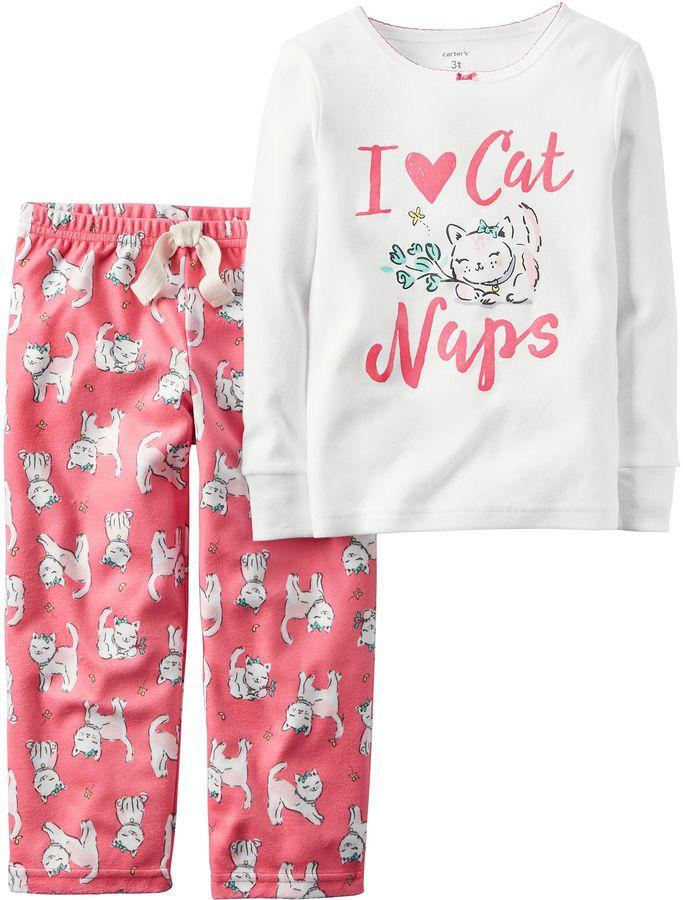 64880faad CARTERS Carter s 2-pc. I Love Cat Naps Fleece Pajama Set - Baby ...