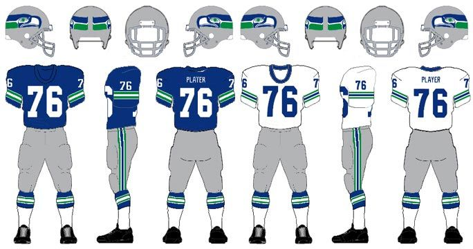 quality design f239d 3aa69 Never finished: the history of Seattle Seahawks fashion ...
