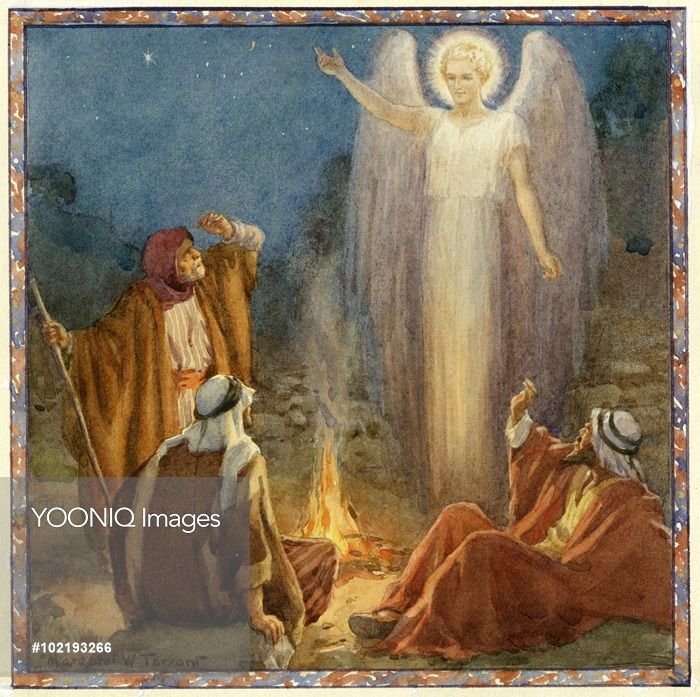 Unto You Is Born A Saviour. Christmas Card. Margaret