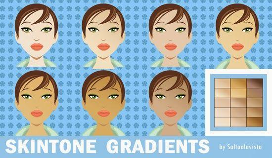 Degradados Basados En Tonos De Piel Para Photoshop Photoshop Tutorial Photoshop Tutorial