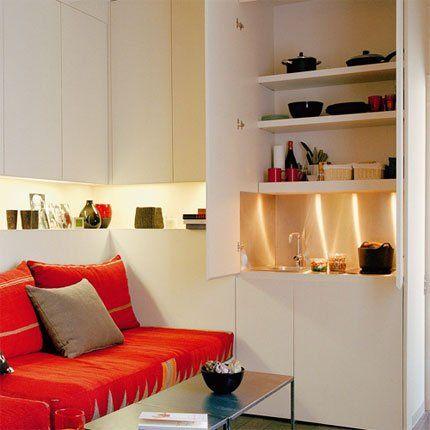 18 m², plein d\'astuces et de rangements | Mini fridge, Utensils ...