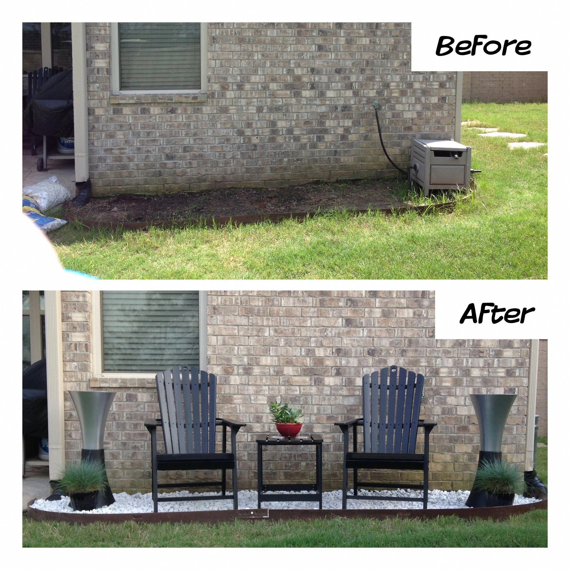 Flowerbed Makeover. Created A Backyard Seating Area Using