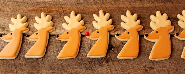 Decorating sugar cookies is as much a tradition as trimming the tree and these simple reindeer cookies will make a great addition to your Christmas set.
