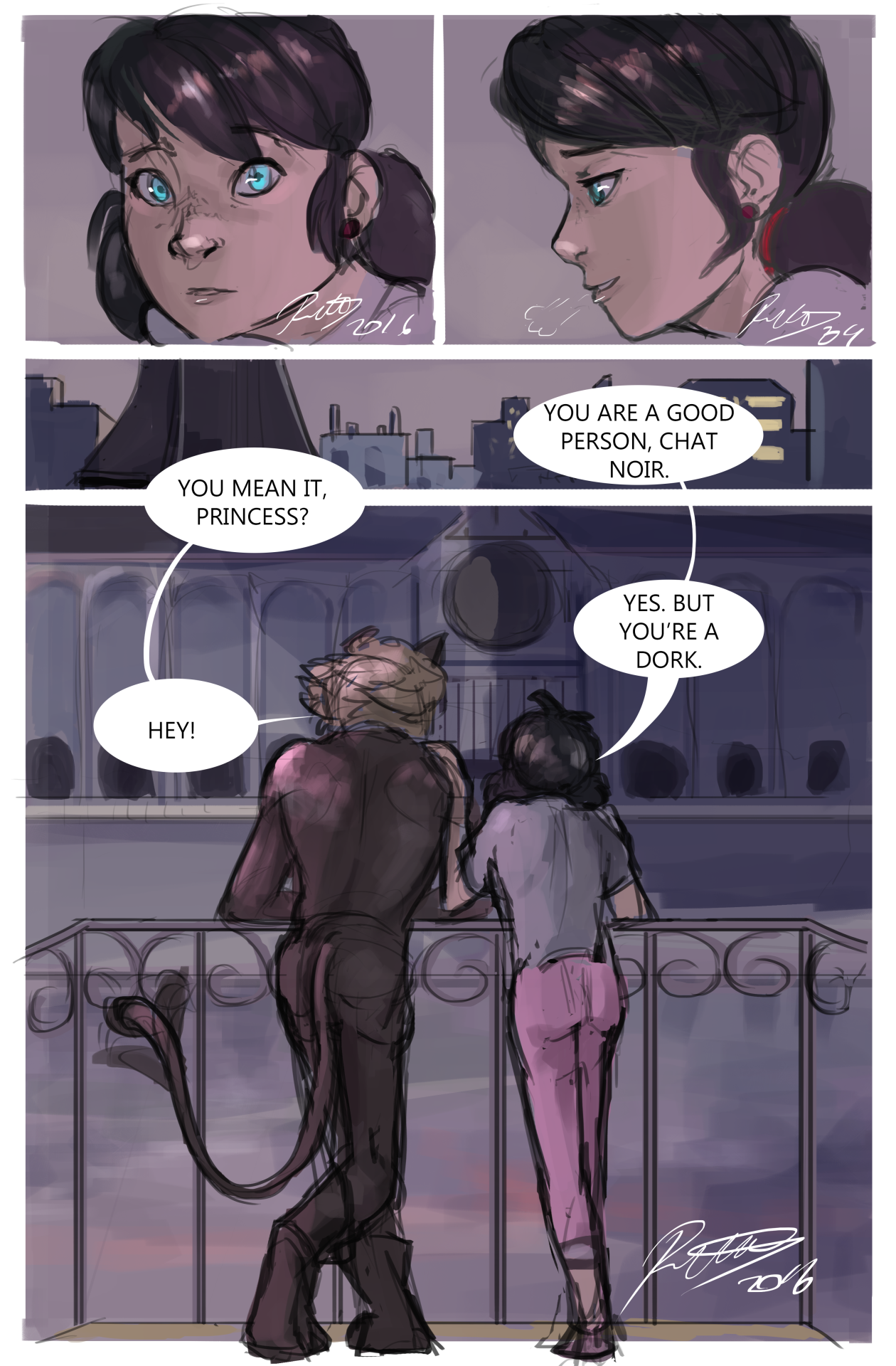 """australet789: """" It was Chat Noir's birthday too and he never said anything to LB about it, maybe because he didnt want to bother her with his family issues. Marichat idea i wanted to develop into a..."""