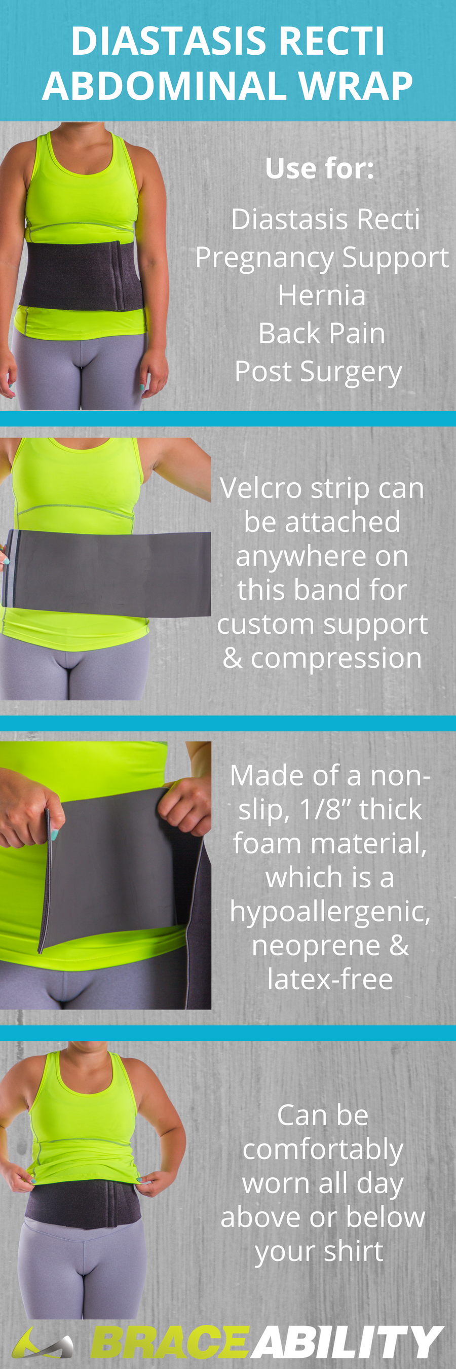 This diastasis recti abdominal splint helps with stomach ...