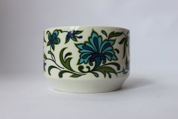 Midwinter Spanish Garden Jessie Tait designer bowl green blue