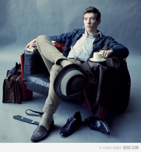 Young Sir Ian McKellen