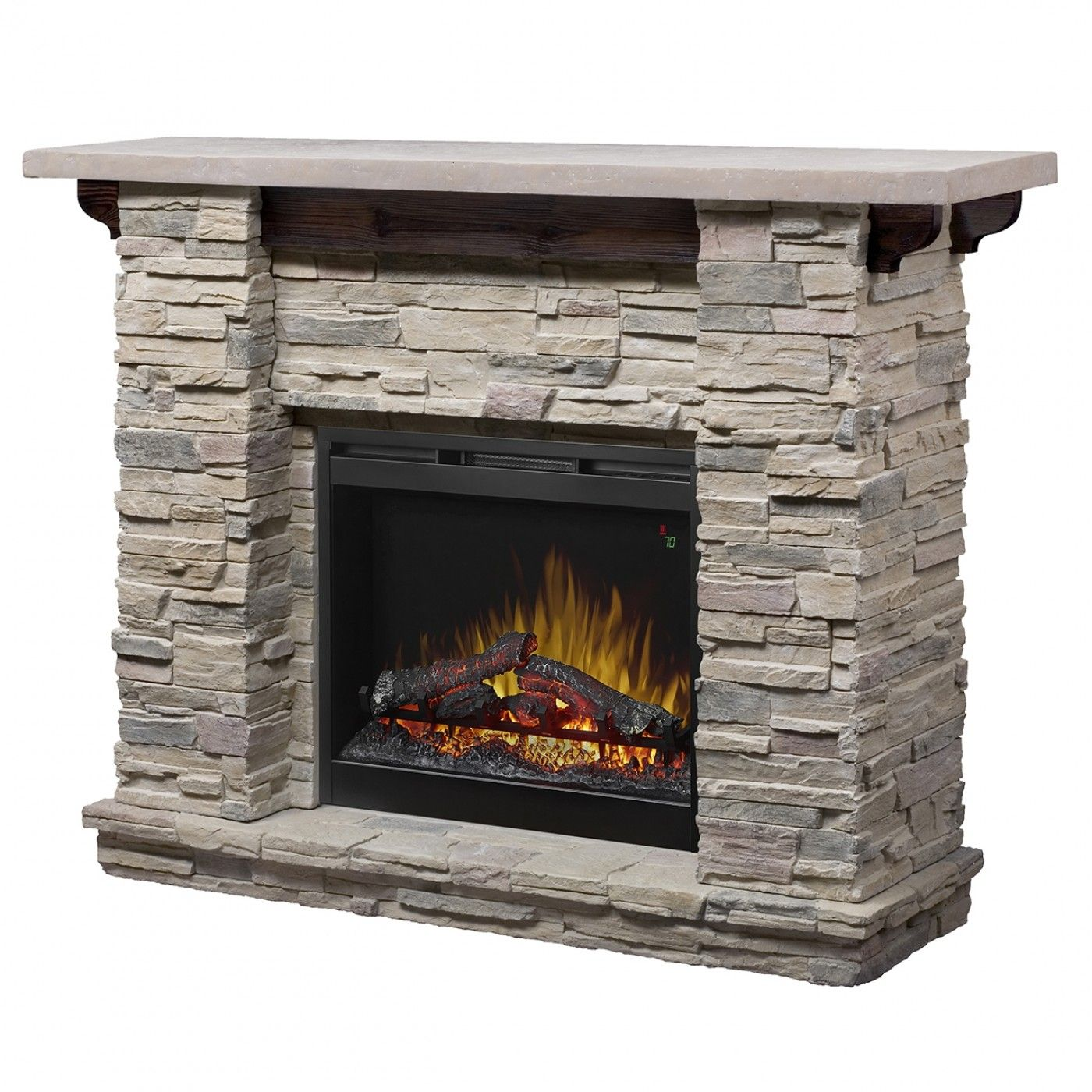 Dimplex Featherstone Man Made Stone Mantel Electric Fireplace Gds26l5 1152lr Goedekers Com Stone Electric Fireplace Electric Fireplace Fireplace