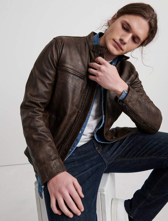 Vintage Leather Jacket Lucky Brand In 2020 Cool Jackets For Men Leather Jacket Vintage Leather Jacket