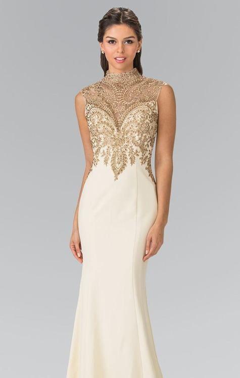 b36f6fb4b48 Buy the High Neck Embellished Long Dress GL2322 by Elizabeth K at  CoutureCandy.com