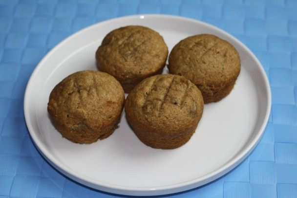 Whole wheat banana muffins-different, but very good recipe.