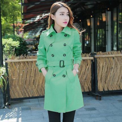12591536906 2017 Autumn Coat Plus Size XXXXXL Slim Lapel Epaulet Double-Breasted Casaco  Feminino Long Section Trench Coat For Women C3062
