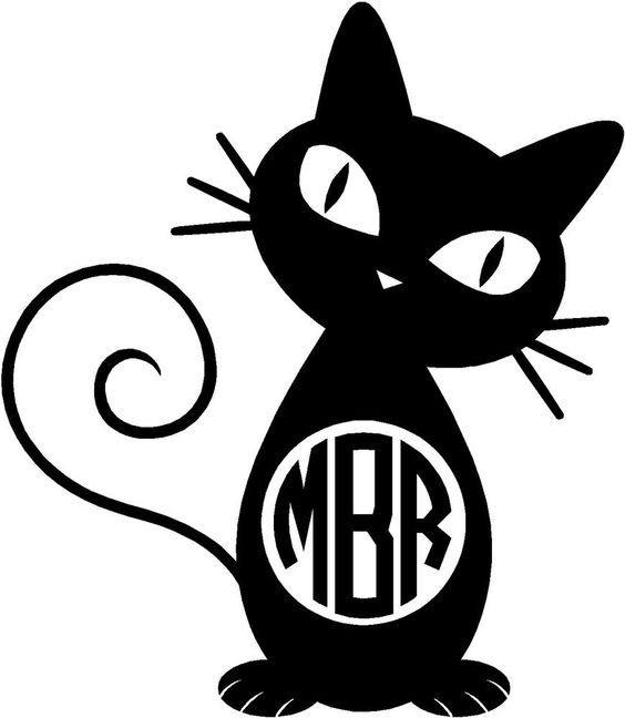 Personalized Cat Monogram Decal Vinyl Sticker Car Tumbler Cup - Vinyl decal cat pinterest