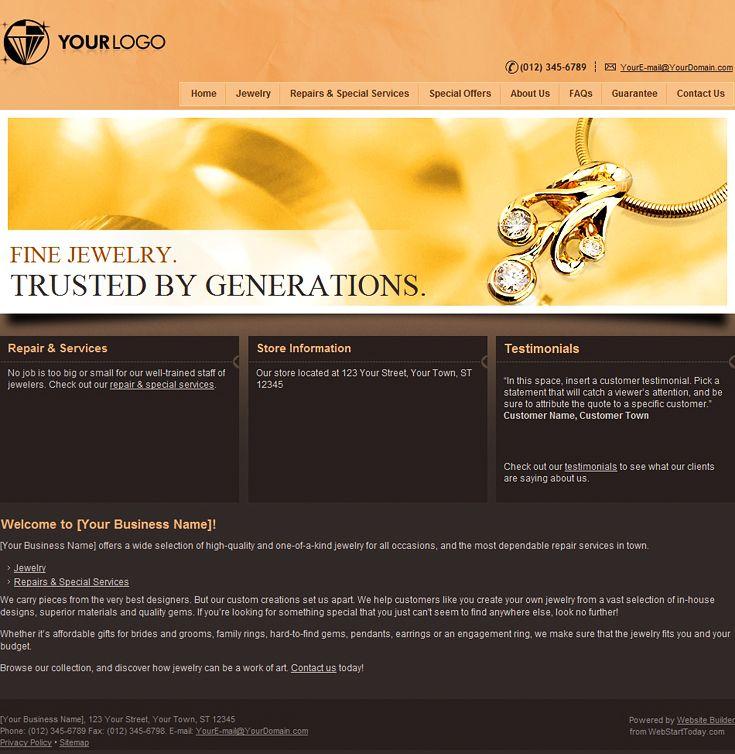 Free website builder jewelry website website design