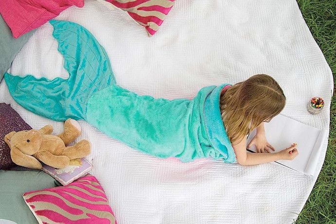 Mermaid Tail Blanket for Kids - Classic Design in 4 FINtastic Colors ...