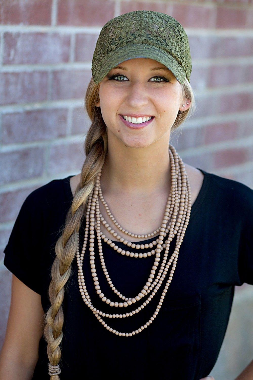 GroopDealz   Lace Baseball Caps - 7 Colors! I'll take the Black, White, Olive, & Cheetah Print! ;-)