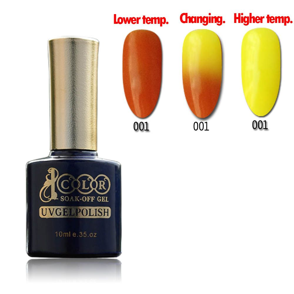 Hot sell Color 1000 Temperature Change gel nail polish 15ml 12colors with 12pcs Free Shipping
