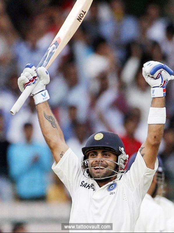 Indian Cricketer Virat Kohli Arm Tattoo Design Tattos Virat