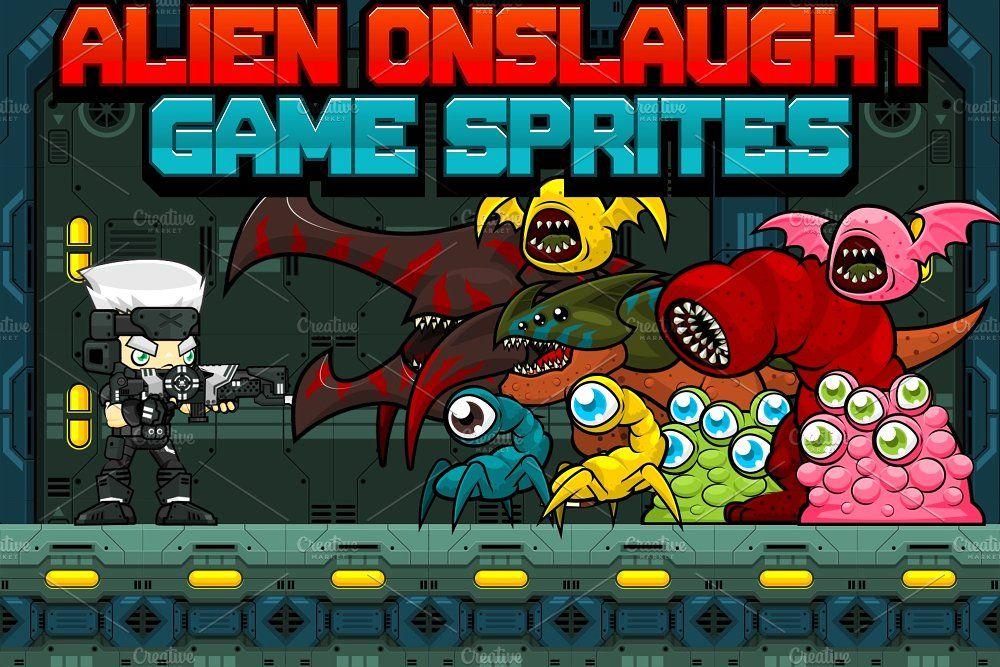 Alien onslaught game sprites sprite steampunk games