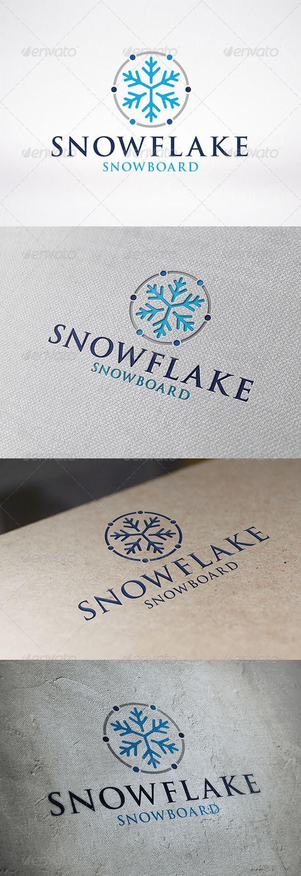 Snowflake Logo Template Logo Templates Snowflakes Ice Logo