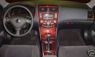 honda accord lx ex ex l interior wood dash trim kit set 2003 2004 2005 2006 2007 honda accord. Black Bedroom Furniture Sets. Home Design Ideas
