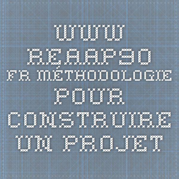 www.reaap90.fr Méthodologie pour construire un projet