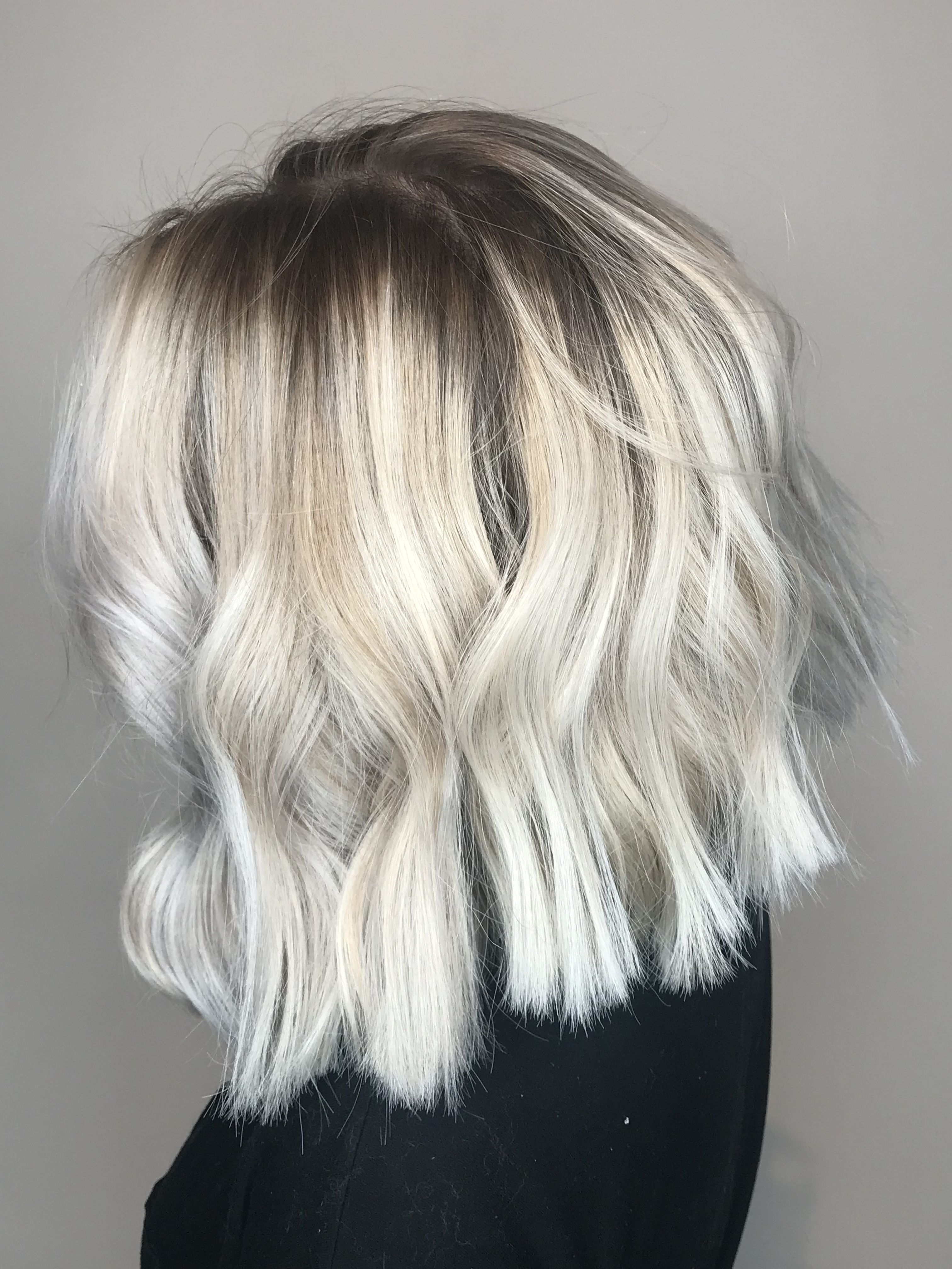 Icy Blonde Balayage Short Blunt Bob Hair Amp Beauty In