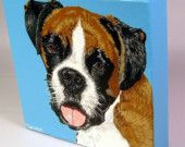 Custom Pet Portrait From Your Photo--  Realistic or Pop Style 6x6 or other sizes available