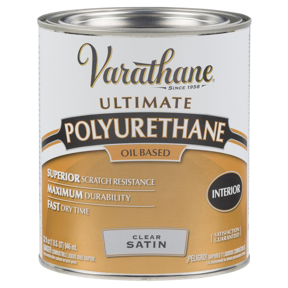 Varathane 1 Qt Clear Satin 275 Voc Oil Based Interior Polyurethane 2 Pack Interior Wood Stain Polyurethane Floors Minwax Gel Stain